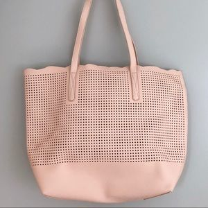 Pink Plastic Perforated Pool Bag